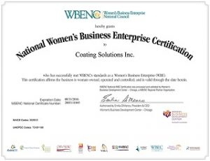 Local Woman-Owned Coating Application Company
